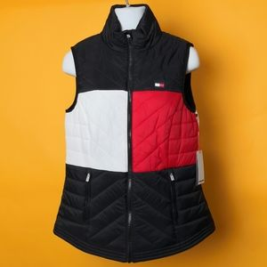 New Tommy Hilfiger Vest Women puffy sport casual S